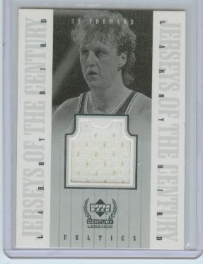 1999 Upper Deck Century Legends Jerseys of the Century #LB Larry Bird