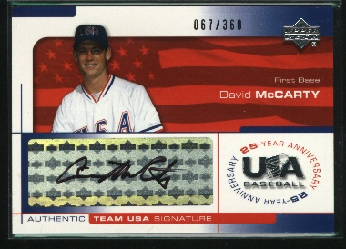 2004 USA Baseball 25th Anniversary Signatures Black Ink #MCC David McCarty/360