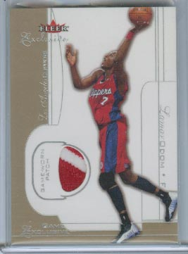2001-02 Fleer Exclusive Game Exclusives Patches #9 Lamar Odom