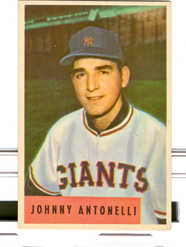 1954 Bowman #208 Johnny Antonelli