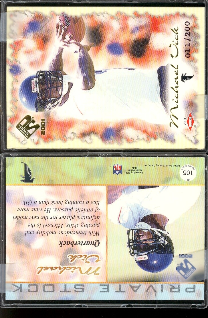 2001 Private Stock #105 Michael Vick RC