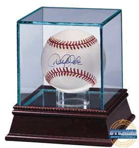 Ultra Pro Glass Baseball Display Case with mirrored bottom & wood base