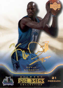 2004-05 Upper Deck Pro Sigs Gold #50 Kevin Garnett
