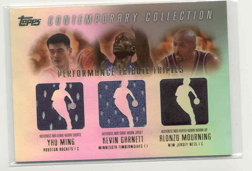 2003-04 Topps Contemporary Collection Performance Tribute Triples #MGM Yao Ming/Kevin Garnett/Alonzo Mourning