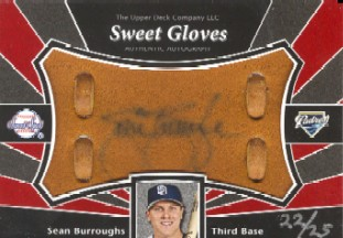 2004 Sweet Spot Signatures Glove #SB Sean Burroughs/25