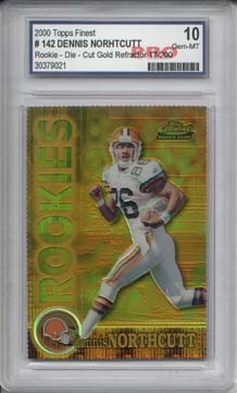 2000 Topps Finest Gold/Refractors #142 Dennis Northcutt Parallel RC Graded Gem Mint 10 Serial #017/200