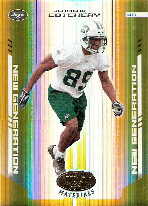 2004 Leaf Certified Materials Mirror Gold #177 Jerricho Cotchery