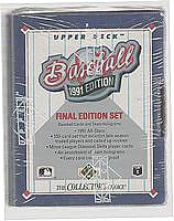 1991 Upper Deck Final Edition baseball set - PEDRO MARTINEZ' only RC, Other RCs: Thome, Lofton, Klesko, Ivan Rodriguez