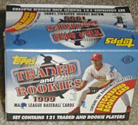 1999 Topps Traded factory-sealed baseball set - 121 cards - AUTOGRAPH IN BOX!
