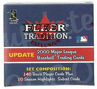 2000 Fleer Tradition complete factory sealed Update baseball set - ROOKIES: Sasaki, Santana, Buehrle, Zito