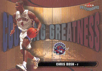 2003-04 Fleer Patchworks Courting Greatness #10 Chris Bosh