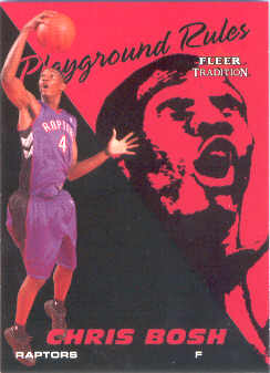 2003-04 Fleer Tradition Playground Rules #4 Chris Bosh