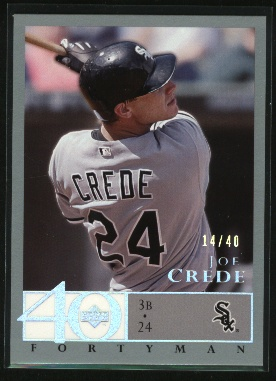 2003 Upper Deck 40-Man Rainbow #318 Joe Crede