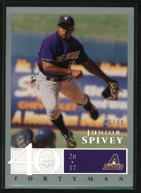 2003 Upper Deck 40-Man Rainbow #493 Junior Spivey