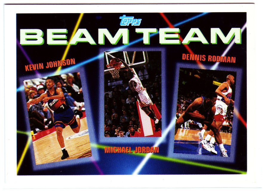 1992-93 Topps Beam Team #3 Kevin Johnson/Michael Jordan/Dennis Rodman