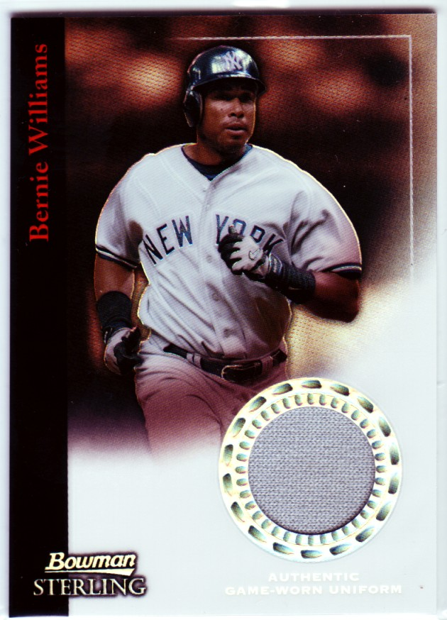 2004 Bowman Sterling Refractors #BW Bernie Williams Jsy