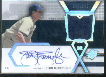 2004 SPx Swatch Supremacy Signatures Young Stars #SB Sean Burroughs