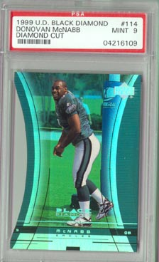 1999 Upper Deck Black Diamond Football #114 Diamond Cut DONOVAN McNABB PSA 9 Philadelphia EAGLES !!! ROOKIE!!