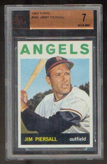 1964 Topps #586 Jimmy Piersall BVG 7 Near Mint