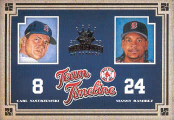 2005 Diamond Kings Team Timeline #19 M.Ramirez/C.Yastrzemski