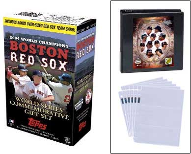 2004 Topps Boston Red Sox World Series Champions Commemorative Team Set (55 Cards) w/ Limited Edition 8x10 WS Print, Binder, & Protective Pages
