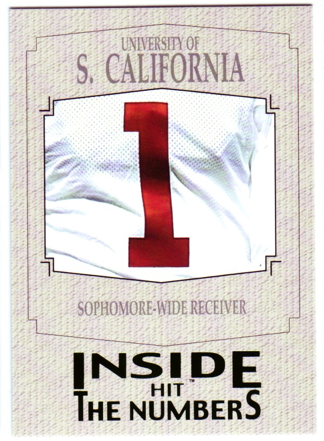 2004 SAGE HIT Inside the Numbers Silver #2 USC Wide Receiver/(Mike Williams)
