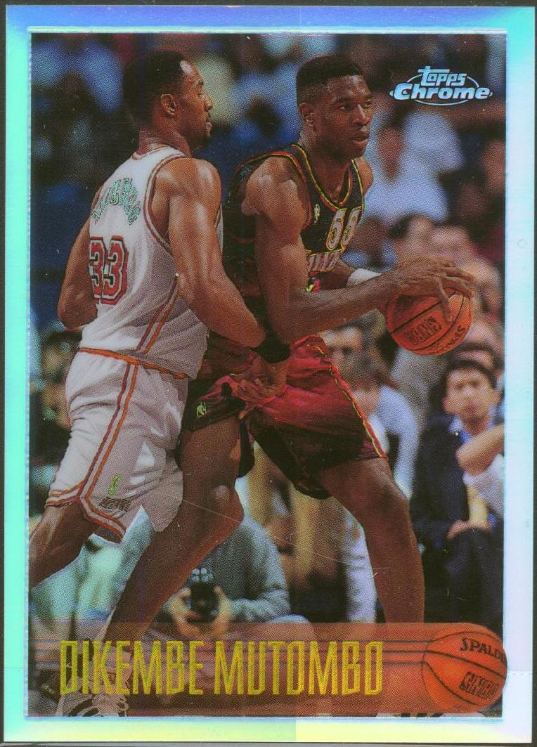 1996-97 Topps Chrome Refractors #112 Dikembe Mutombo