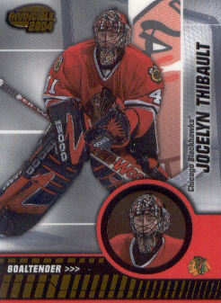 2003-04 Pacific Invincible #18 Jocelyn Thibault