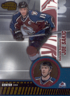 2003-04 Pacific Invincible #25 Joe Sakic