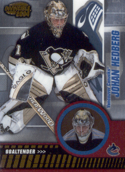 2003-04 Pacific Invincible #95 Johan Hedberg