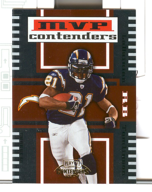 2004 Playoff Contenders MVP Contenders Orange #MC6 LaDainian Tomlinson