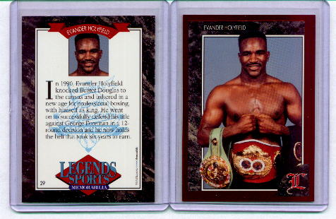 1992 Legends Red Foil Boxing Card #29 Evander Holyfield front image
