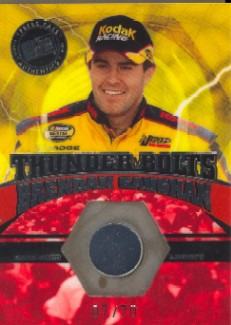 2004 Press Pass Optima Thunder Bolts Drivers #TBD10 Brendan Gaughan
