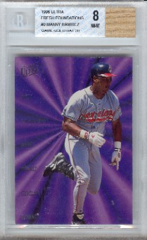 Manny Ramirez 1996 Ultra Fresh Foundations Game-Used Bat BGS Grade 8