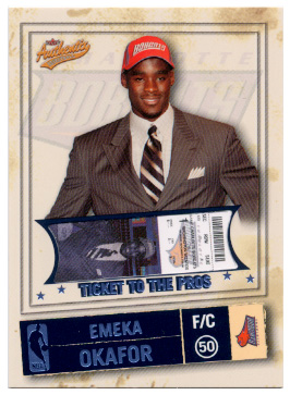 2004-05 Fleer Authentix Parallel 75 #128 Emeka Okafor
