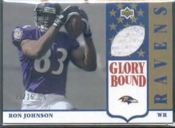 2002 UD Authentics Glory Bound Jerseys Gold #GBJRJ Ron Johnson