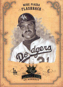 2004 Diamond Kings Sepia #157 Mike Piazza FB