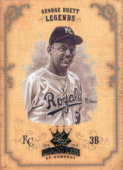 2004 Diamond Kings Sepia #167 George Brett LGD