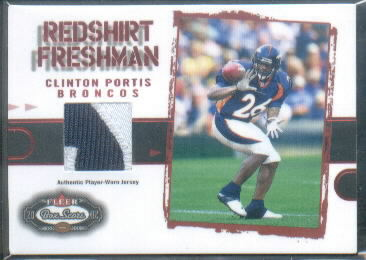 2002 Fleer Box Score Red Shirt Freshman #7 Clinton Portis SP