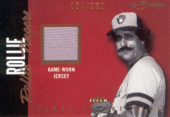 2004 Fleer InScribed Names of the Game Material Copper #RF Rollie Fingers Jsy