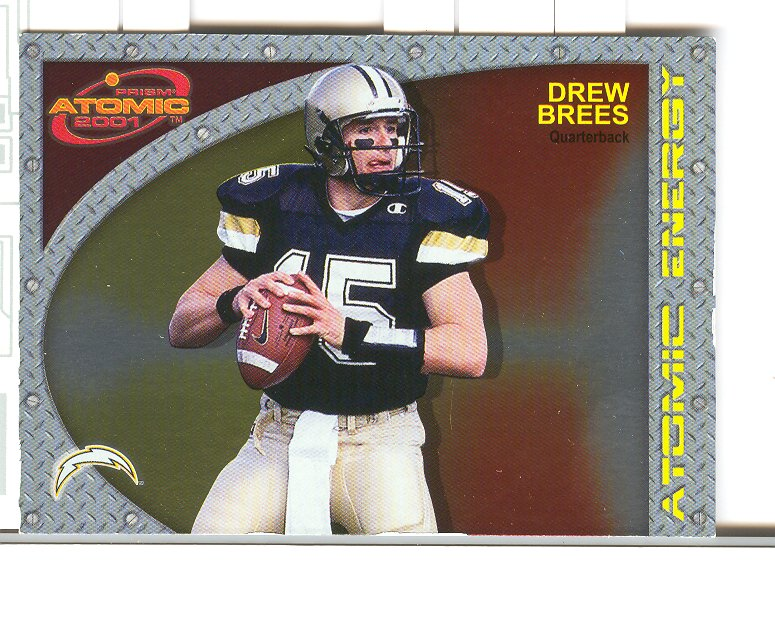 2001 Pacific Prism Atomic Energy #16 Drew Brees