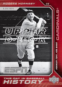 2005 Upper Deck ESPN This Day in Baseball History #BH18 Rogers Hornsby front image