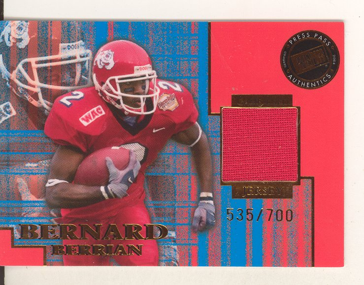 2004 Press Pass SE Game Used Jerseys Numbers #JCBB Bernard Berrian
