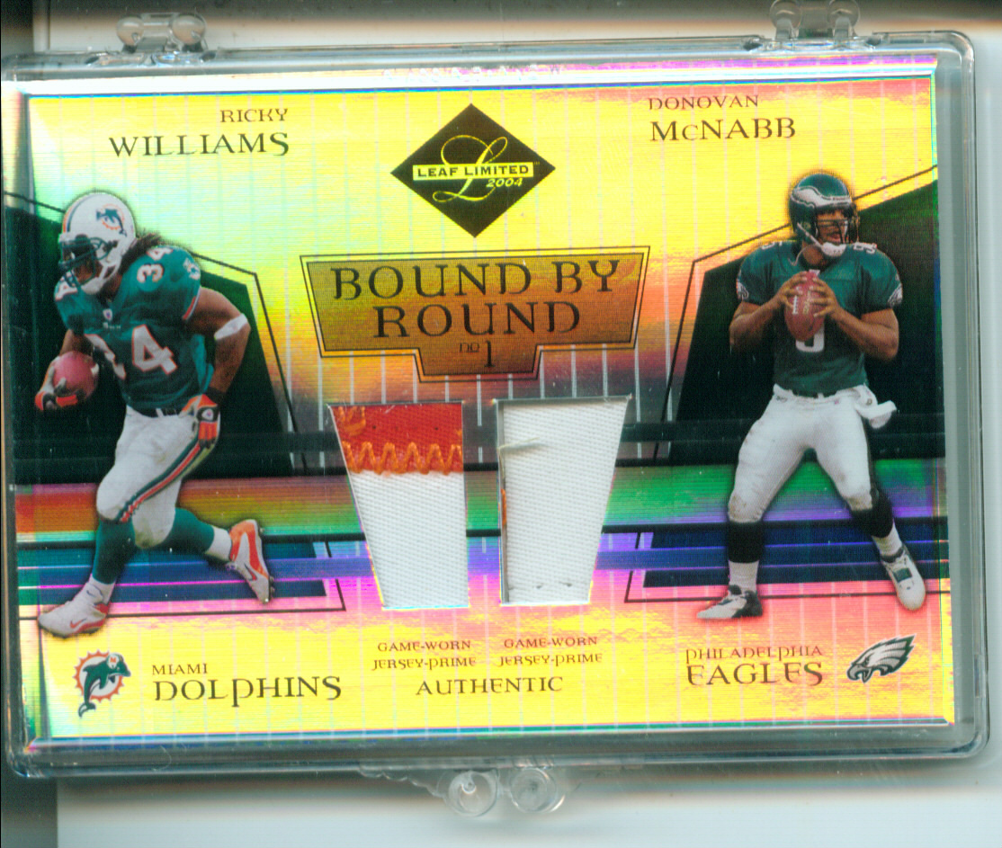 2004 Leaf Limited Bound by Round Jerseys Prime #BR50 Ricky Williams/Donovan McNabb