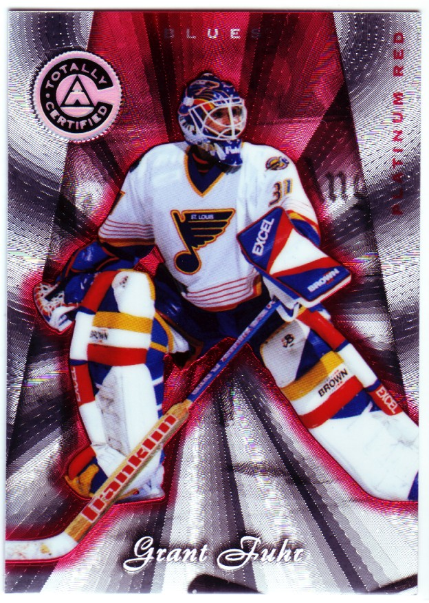 1997-98 Pinnacle Totally Certified Platinum Red #10 Grant Fuhr