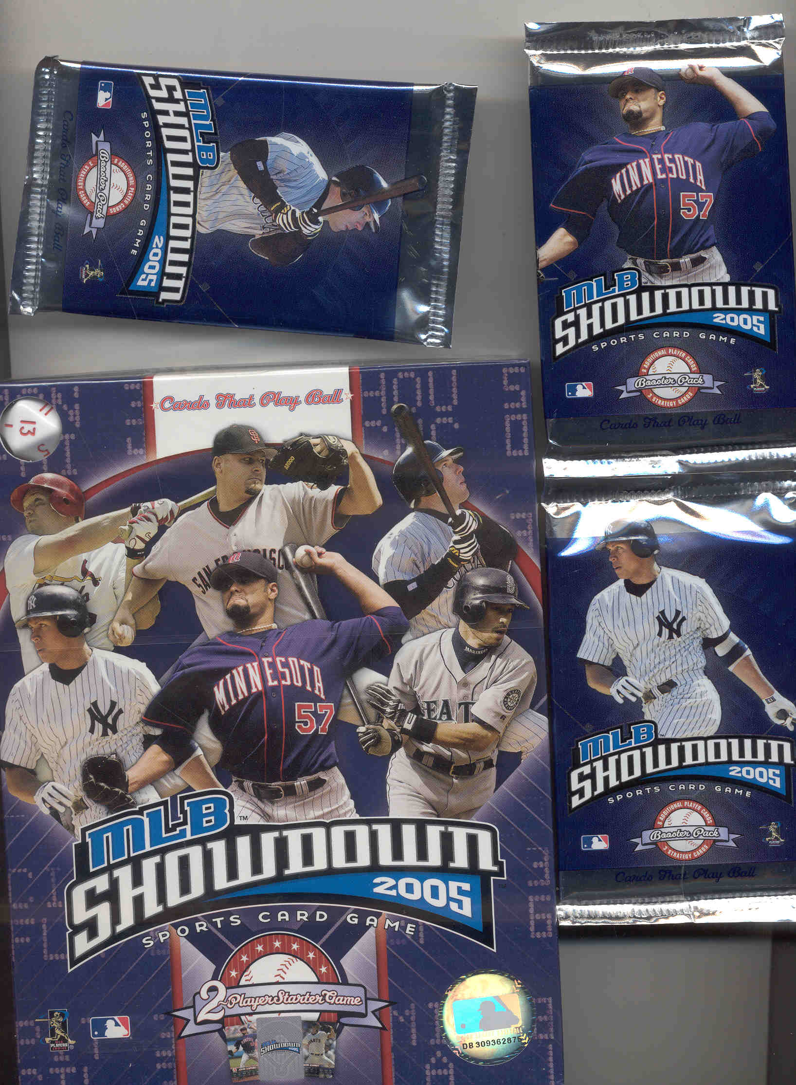 2005 MLB Showdown  2 Player Starter Game Arod Rolen Santana Helton Ichiro Schmidt