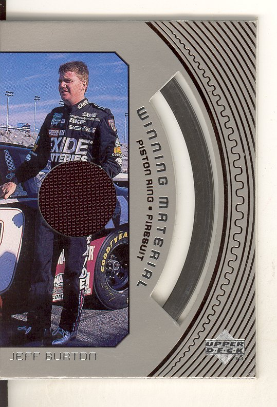 1998 Upper Deck Road To The Cup Winning Materials #W5 Jeff Burton