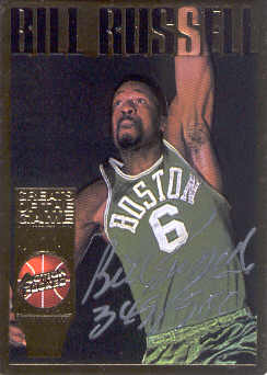 1995 Action Packed Hall of Fame Autographs #40 Bill Russell front image