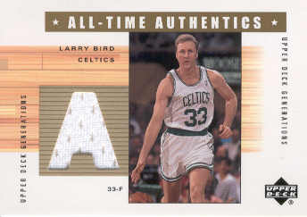 2002-03 Upper Deck Generations All-Time Authentics #LBA Larry Bird front image