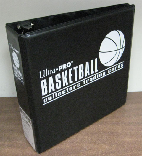Ultra Pro Basketball 3-Ring Black Binder Album with White Foil